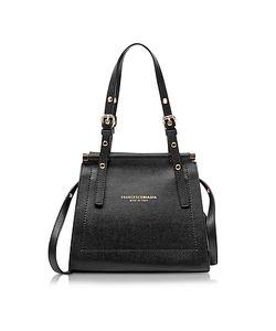 Francesco Biasia | Narciso Lizard Embossed Leather Satchel Bag
