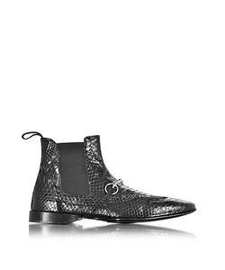 Cesare Paciotti | Черные Ботинки Из Кожи Питона