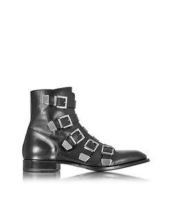 Cesare Paciotti | Черные Кожаные Солдатские Ботинки