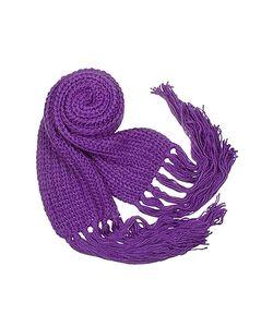 Basile | Cable Knit Fringed Long Scarf