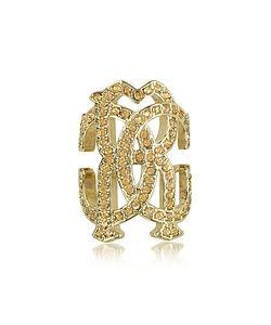 Roberto Cavalli | Rc Icon Золотистое Кольцо С Кристаллами