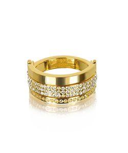 VITA FEDE   Bardot Золотистое Кольцо С Кристаллами