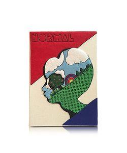 Olympia Le-Tan | Normal Cream Клатч Книжка С Покрытием Из Ткани