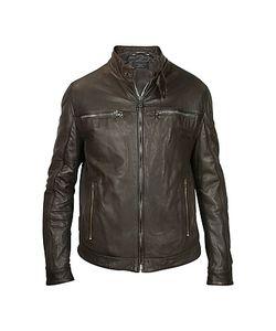 Forzieri | Dark Leather Motorcycle Jacket