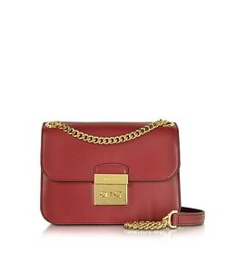 Michael Kors | Sloan Editor Medium Cherry Leather Chain Shoulder Bag