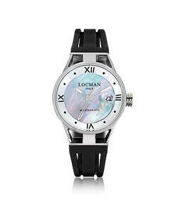 Locman | Montecristo Часы Из Нержавеющей Стали И Перламутра С Силиконовым Ремешком