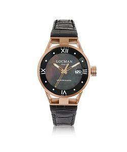 Locman | Montecristo Часы Из Нержавеющей Стали И Титана С Напылением Розового Золота И Силиконовым Ремешком