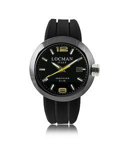Locman | One Черные Часы Хронограф Из Нержавеющей Стали С Кожаным И Силиконовым Ремешками