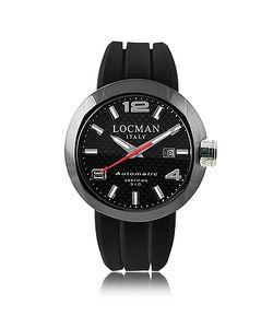 Locman   One Automatico Черные Часы Из Нержавеющей Стали С Кожаным И Силиконовым Ремешками