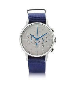 Locman   1960 Часы Хронограф Из Нержавеющей Стали На Синем Ремешке Из Ткани