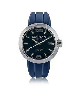 Locman   One Часы Хронограф Из Нержавеющей Стали С Кожаным И Силиконовым Ремешками