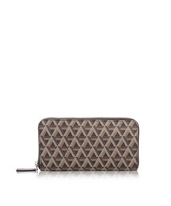 LANCASTER PARIS | Ikon Coated Canvas And Leather Zip Around Continental Wallet