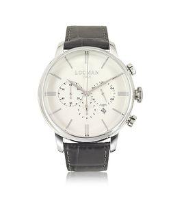 Locman   1960 Часы Хронограф Из Нержавеющей Стали На Коричневом Ремешке Из Кожи Под Крокодиловую