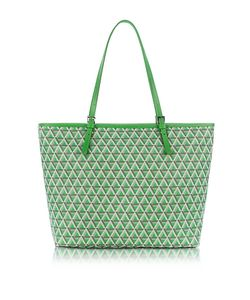 LANCASTER PARIS | Ikon Coated Canvas And Leather Large Tote Bag