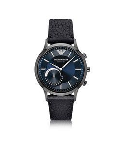 Emporio Armani | Renato Connected Часы Смарт Из Нержавеющей Стали С Хромовым Покрытием И Кожаным Ремешком
