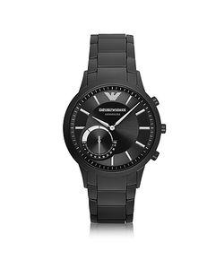 Emporio Armani | Renato Connected Черные Мужские Часы Смарт Из Нержавеющей Стали С Покрытием