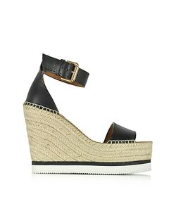 See by Chloé | Leather Wedge Espadrilles Sandal
