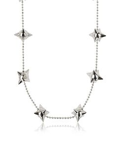 Dsquared2 | Pierce Me Palladium Plated Metal Spiked Chain Necklace