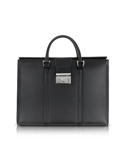 Pineider | Nuova Pow Double Handles Leather Briefcase