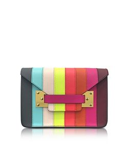 Sophie Hulme | Rainbow Mini Milner Saddle Leather Envelope Bag