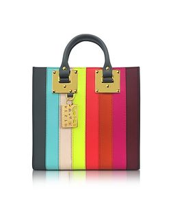 Sophie Hulme | Rainbow Albion Saddle Leather Square Tote