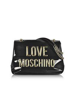 Love Moschino | Patent Eco Leather Shoulder Bag W/Signature Logo