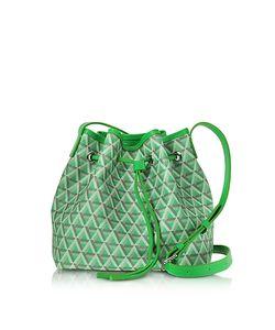 LANCASTER PARIS   Ikon Small Coated Canvas Bucket Bag