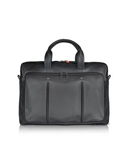 Giorgio Fedon 1919 | Web File 2 Leather And Nylon Briefcase