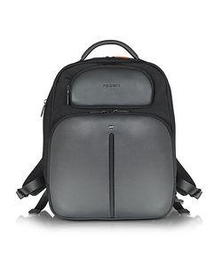 Giorgio Fedon 1919   Web File 2 Leather And Nylon Backpack
