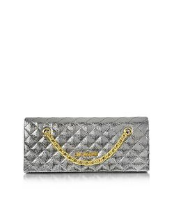 Love Moschino | Evening Laminated Quilted Eco Leather Clutch