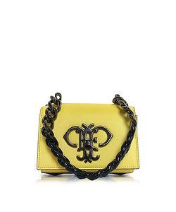Emilio Pucci | Chartreuse Leather Shoulder Bag W/Color Block Chain Strap