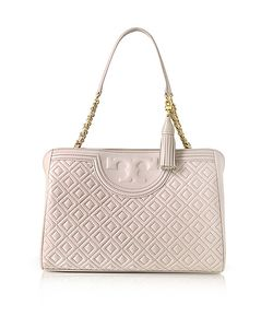 Tory Burch | Fleming Quilted Leather Open Shoulder Bag