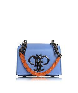 Emilio Pucci | Sky Leather Shoulder Bag W/Color Block Chain Strap