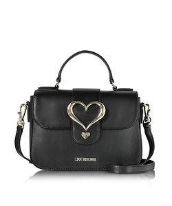 Love Moschino | Eco Leather Satchel Bag W/Heart Buckle