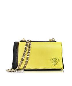 Emilio Pucci | Chartreuse Leather Shoulder Bag W/Chain Strap