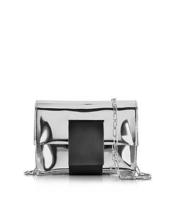 MM6 Maison Martin Margiela | Laminated Leather Clutch W/Chain Strap