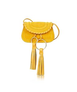 See by Chloé | Polly Honey Suede Leather Mini Crossbody Bag W/Tassels