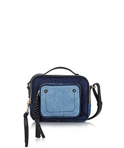 See by Chloé | Patti Denim And Leather Crossbody Bag