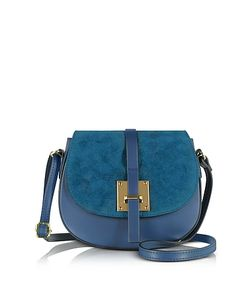 Le Parmentier | Midnight Leather And Suede Crossbody Bag