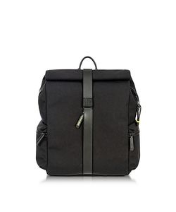 BRIC'S | Nylon And Leather Rolltop Backpack