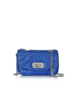 Zadig & Voltaire | Cobalt Quilted Leather Skinny Love Clutch
