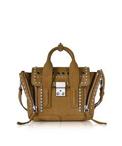 3.1 Phillip Lim | Pashli Dark Mustard Suede Mini Satchel Bag W/Studs