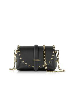 Le Parmentier   Caviar Mini Leather Shoulder Bag W/Studs