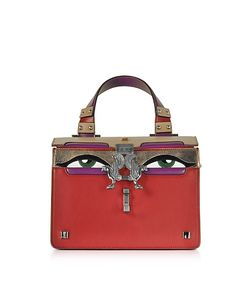 GIANCARLO PETRIGLIA | Leather Mini Peggy Eyes Satchel Bag