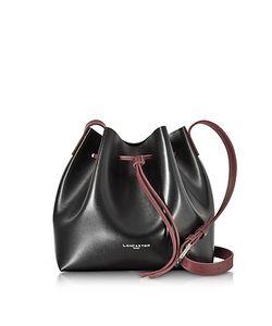 LANCASTER PARIS | Pur Element And Burgundy Leather Bucket Bag