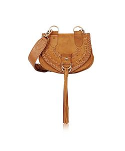 See by Chloé | Collins Passito Braided Leather Suede Crossbody Bag W/Tassels