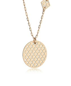 Rebecca | Melrose Over Bronze Necklace W/Geometric Charms
