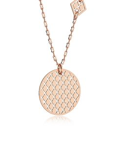Rebecca | Melrose Rose Over Bronze Necklace W/Geometric Charms