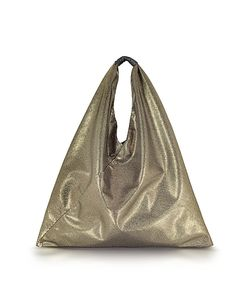 MM6 Maison Martin Margiela | Light Glitter Foil And Eco Leather Japanese Tote