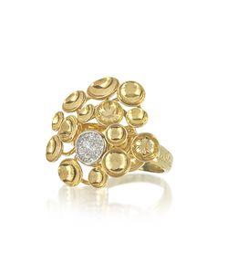 Orlando Orlandini | 18k Bouquet Ring W/Diamond